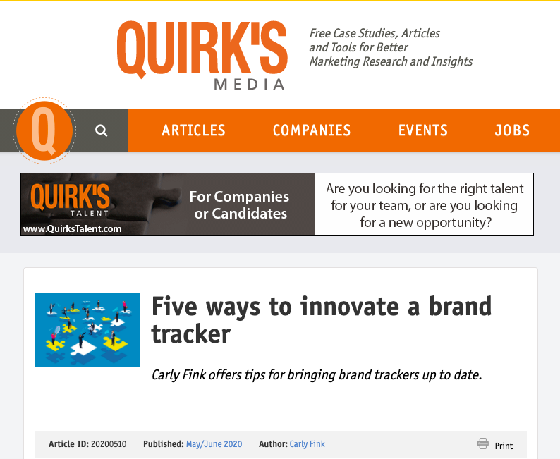 Five Ways to Innovate a Brand Tracker – Quirk's Media