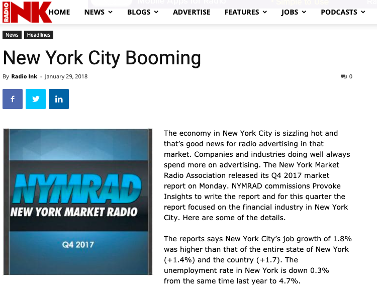 New York City Booming – Radio Ink