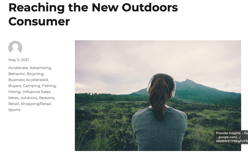 Reaching the New Outdoors Consumer